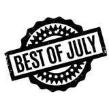 Melhor do carimbo de borracha de julho Imagens de Stock Royalty Free