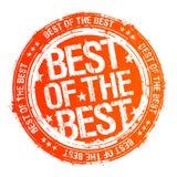 Melhor do melhor selo. Fotografia de Stock Royalty Free