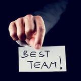 A melhor equipe Imagem de Stock