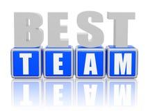 A melhor equipe - letras e cubos Fotografia de Stock