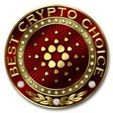 A melhor escolha cripto - CARDANO Ilustração Royalty Free
