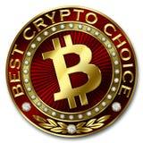 A melhor escolha cripto - DINHEIRO de BITCOIN Ilustração Royalty Free