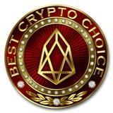 A melhor escolha cripto - EOS Imagem de Stock
