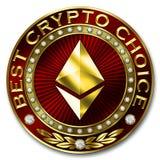 A melhor escolha cripto - ETHEREUM Ilustração Stock