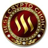 A melhor escolha cripto - STEEM Imagens de Stock