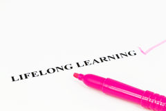 A melhor estratégia é aprendizagem ao longo da vida Foto de Stock Royalty Free