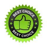 A melhor etiqueta bem escolhida ilustração royalty free