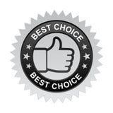 A melhor etiqueta bem escolhida ilustração do vetor