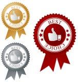 A melhor etiqueta bem escolhida Imagens de Stock Royalty Free