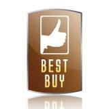 A melhor etiqueta da compra Imagens de Stock