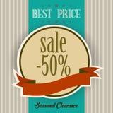 A melhor etiqueta de preço no estilo do vintage Imagens de Stock Royalty Free