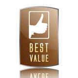 A melhor etiqueta do valor Imagem de Stock Royalty Free