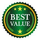 A melhor etiqueta do valor Imagens de Stock Royalty Free