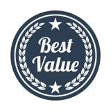 A melhor etiqueta do valor no fundo branco ilustração stock