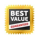 A melhor etiqueta do valor. Vetor. Imagem de Stock