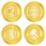A melhor etiqueta dourada bem escolhida Fotos de Stock Royalty Free