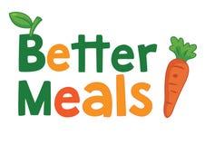 Melhor ilustração do Logogram, do ícone e do vetor das refeições ilustração stock
