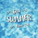 A melhor ilustração do vetor das horas de verão Imagem de Stock Royalty Free