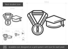 A melhor linha ícone do estudante Imagens de Stock Royalty Free