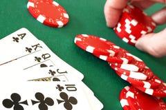 A melhor mão de póquer Imagem de Stock