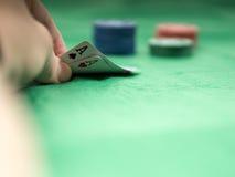 A melhor mão de pôquer Foto de Stock