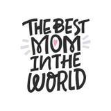 A melhor mamã no mundo ilustração do vetor