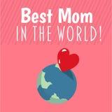 A melhor mamã no vetor do mundo Imagens de Stock