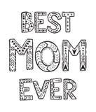 A melhor mamã nunca ilustração royalty free