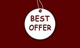 A melhor oferta Fotografia de Stock Royalty Free