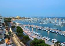 A melhor opinião Palma de Mallorca Fotos de Stock Royalty Free