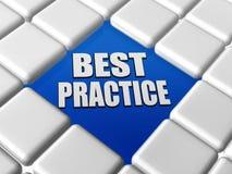 Melhor prática em umas caixas Fotos de Stock Royalty Free