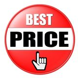 A melhor tecla do preço ilustração royalty free