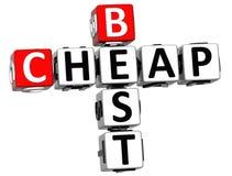 melhor texto barato das palavras cruzadas 3D Imagens de Stock