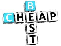 melhor texto barato das palavras cruzadas 3D Imagem de Stock Royalty Free