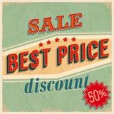 A melhor venda do preço. ilustração do vetor
