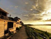 A melhor viagem de Chiang Khan em Tailândia do nordeste imagem de stock