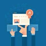 Melhorando a classificação do Search Engine ilustração do vetor