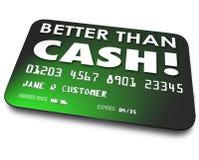 Melhore do que a compra fácil da conveniência do vale-oferta do débito do crédito de dinheiro Fotografia de Stock Royalty Free