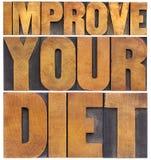 Melhore sua dieta fotos de stock royalty free