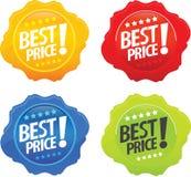 Melhores ícones lustrosos do preço Foto de Stock