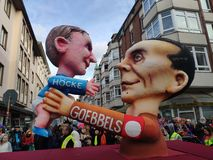 Melhores amigos de Goebbels e de Höcke imagem de stock
