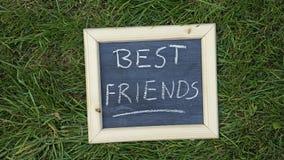 Melhores amigos escritos Fotos de Stock