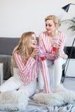 Melhores amigos fêmeas que passam o tempo junto Foto de Stock