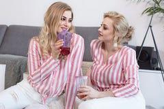 Melhores amigos fêmeas que passam o tempo junto Foto de Stock Royalty Free