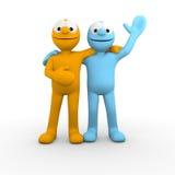 Melhores amigos que dizem o olá! Imagens de Stock