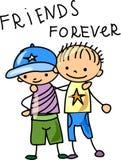 Melhores amigos, vetor Fotografia de Stock Royalty Free