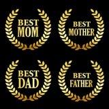 A melhores mãe e pai ilustração stock