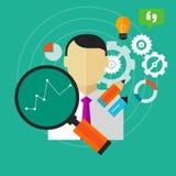 A melhoria do desempenho melhora a medida do empregado da pessoa de KPI do negócio ilustração stock