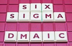 Melhoria do negócio: Sigma seis Imagens de Stock Royalty Free