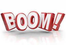 Melhoria explosiva da economia das vendas do aumento do crescimento da palavra do crescimento 3d Fotos de Stock Royalty Free